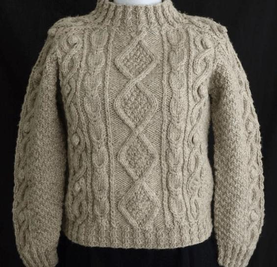 Seamless Aran Sweater Knitting Pattern