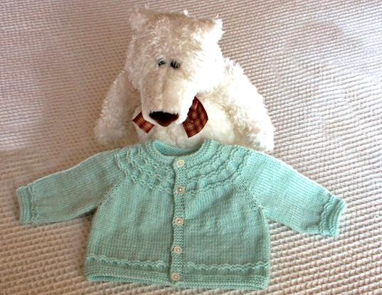 Seamless Yoked Baby Sweater Knitting Pattern