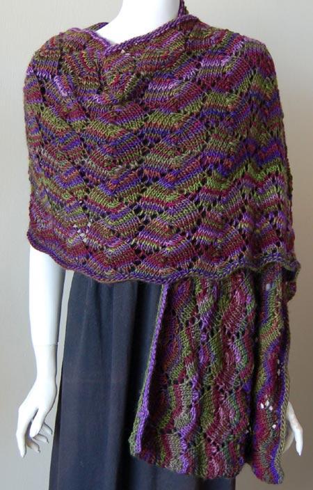 Shell Lace Shawl Knitting Pattern