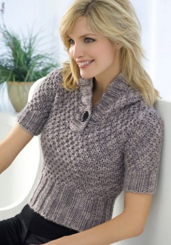 Short Sleeve Chunky Knit Sweater Pattern