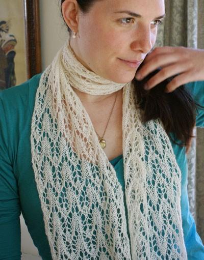 Silky Alpaca Lace Scarf Knitting Pattern