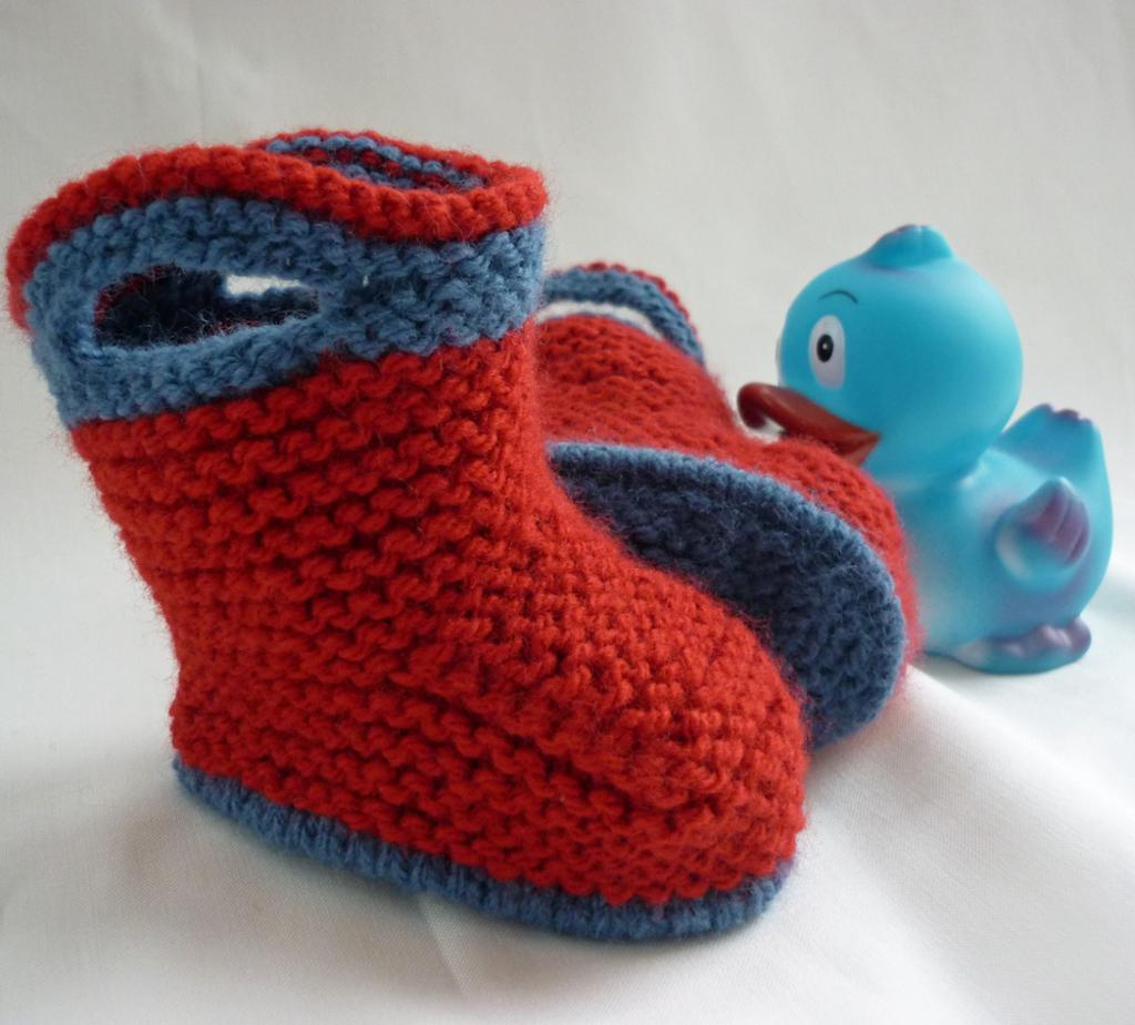 Simple Baby Booties Knitting Pattern