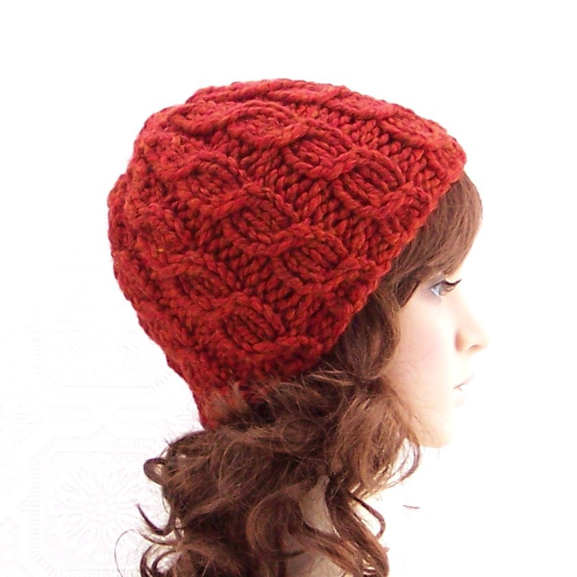 Simple Cable Beanie Knit Hat Pattern