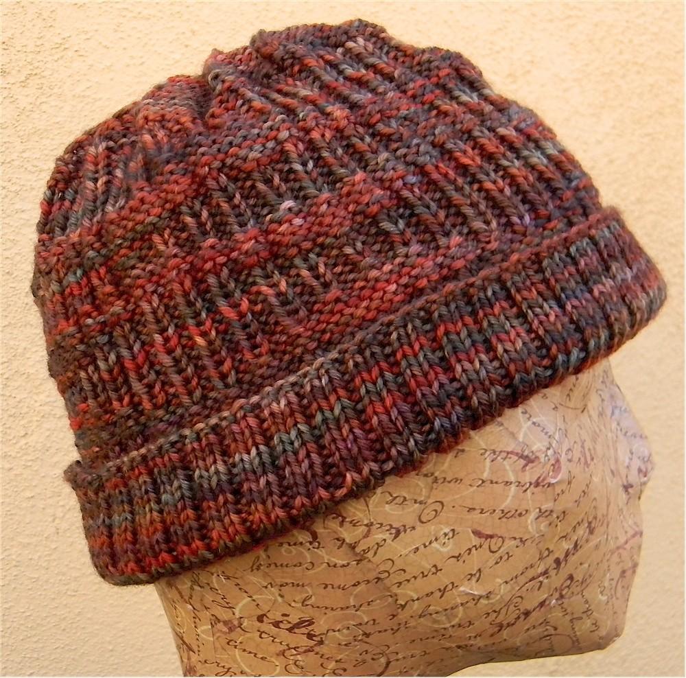 Sine Wave Men's Hat Knitting Pattern