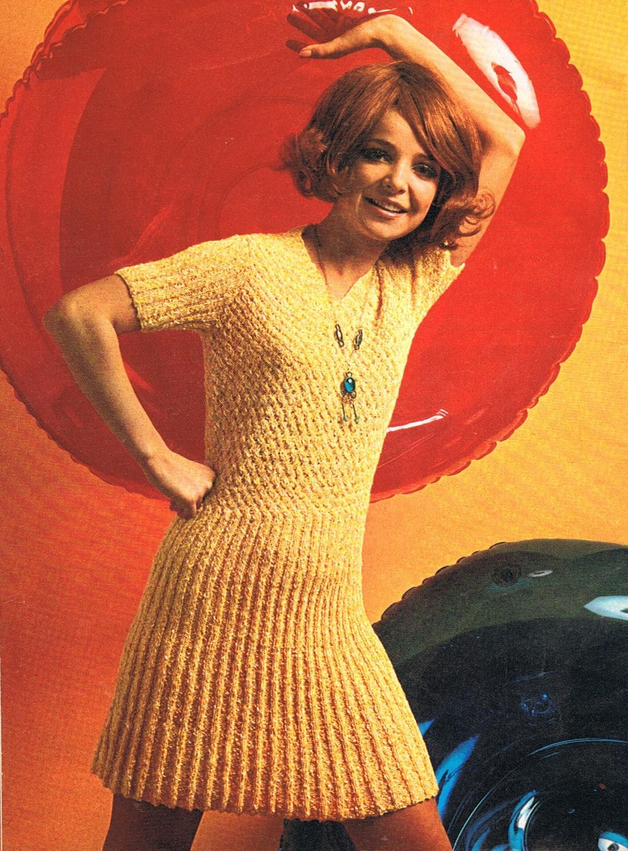 Sixties Mini Dress Knitting Pattern
