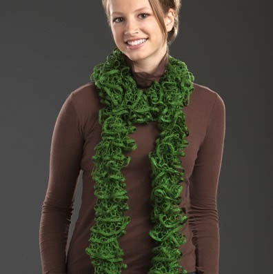 Skein Ruffle Knitting Scarf Pattern Instruction