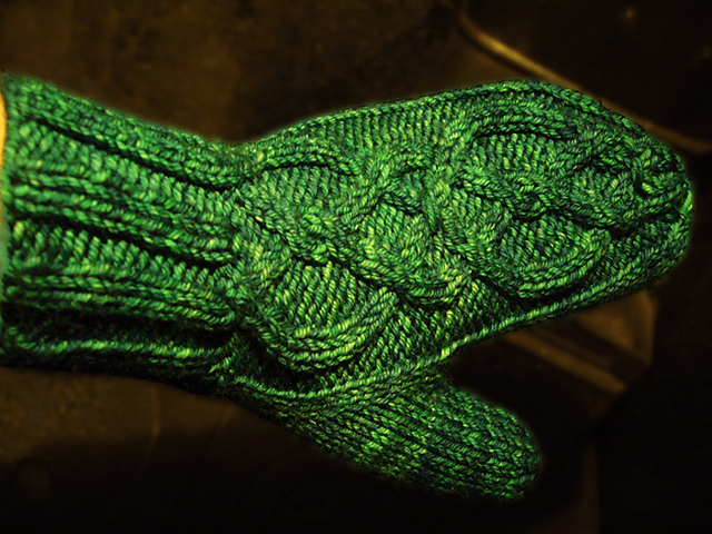 Images of Skinny Fit Mitten Knitting Pattern