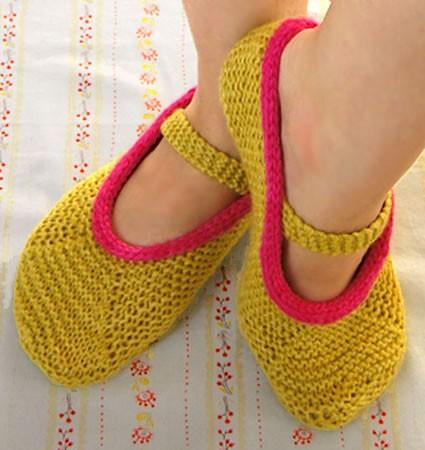 Slipper Knitting Pattern