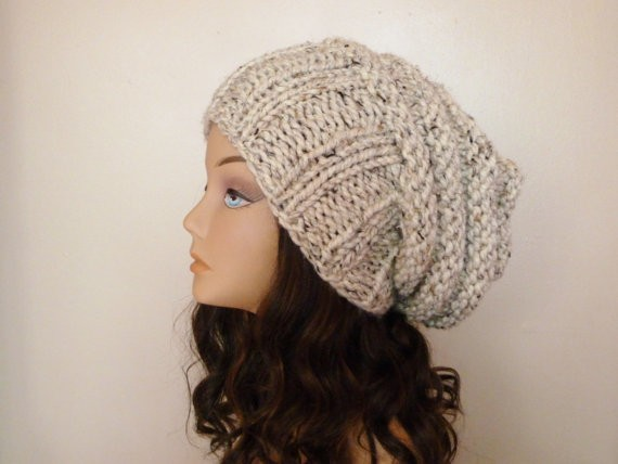 Slouchy Hat Knitting Pattern For Women