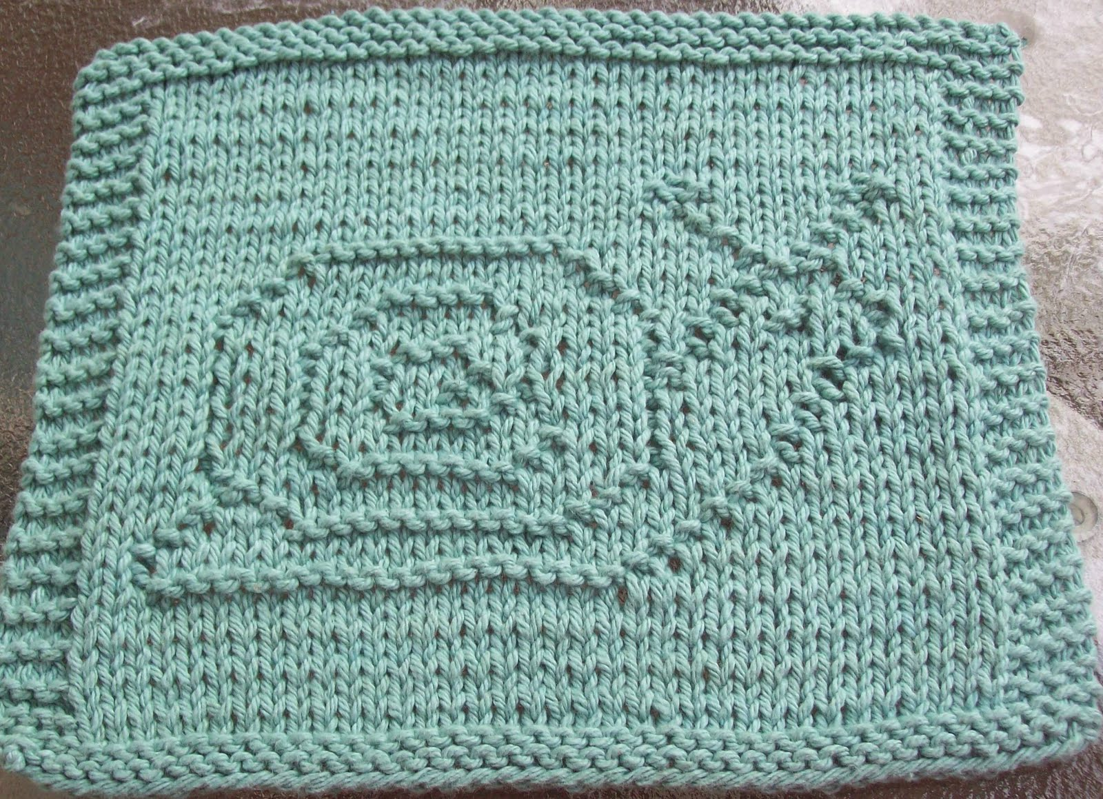 Snail Knit Dishcloth Pattern