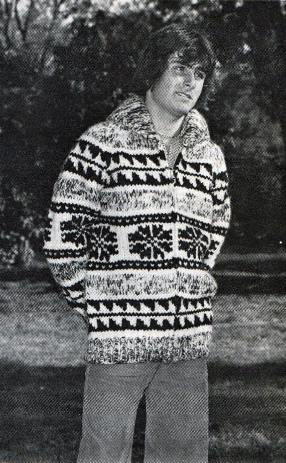 Snowflake Sweater Knitting Pattern For Men's