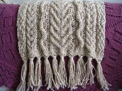 Soft Aran Prayer Shawl Knitting Pattern Picture