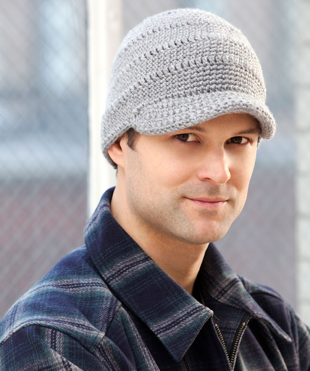 Streetwise Brim Hat Knitting Pattern For Men