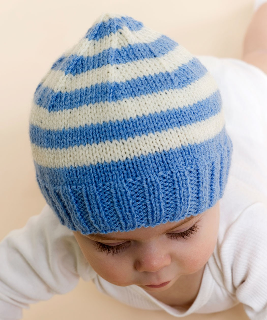Stripe Knit Baby Hat Pattern