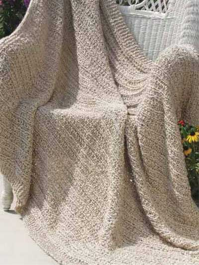 Stripes Afghan Knitting Pattern