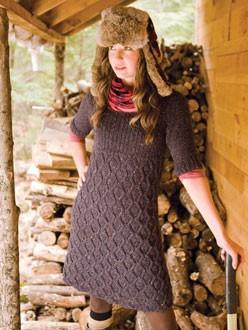 Sweater Dress Knitted Pattern Instruction