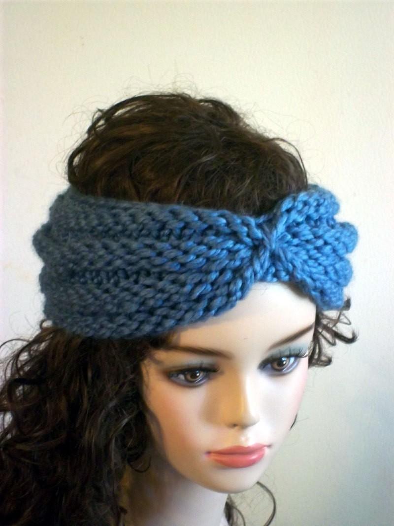 Turban Headband Knitting Pattern