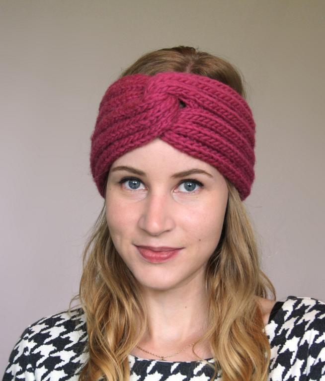 Turban Knit Headband Pattern