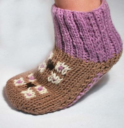 Turkish Delight Slipper Socks Pattern