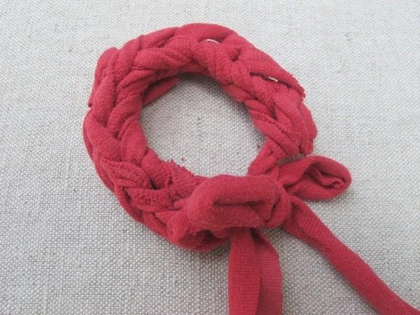 Two Finger Knitted Bracelet Pattern
