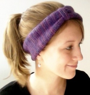 Urban Ear Warmer Headband Knitting Pattern