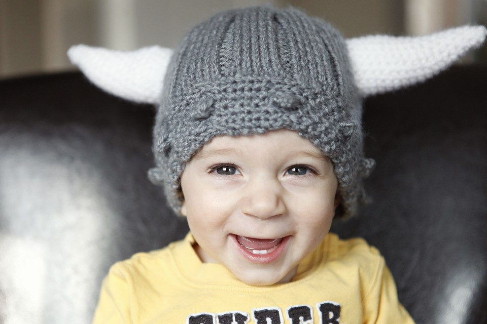 Viking Helmet Hat Knitting Pattern