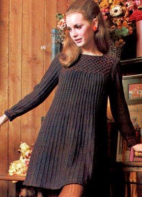 Vintage Sweater Dress Knitting Pattern