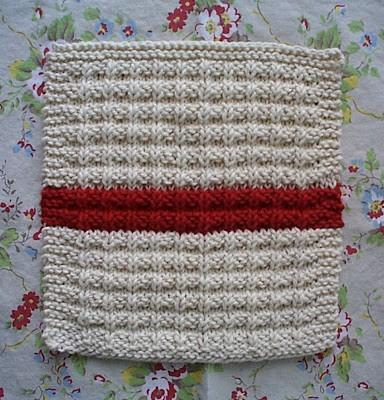 Waffle Knit Dishcloth Knitting Pattern