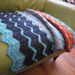 Walt Painted Chevron Baby Blanket Knitting Pattern Photos