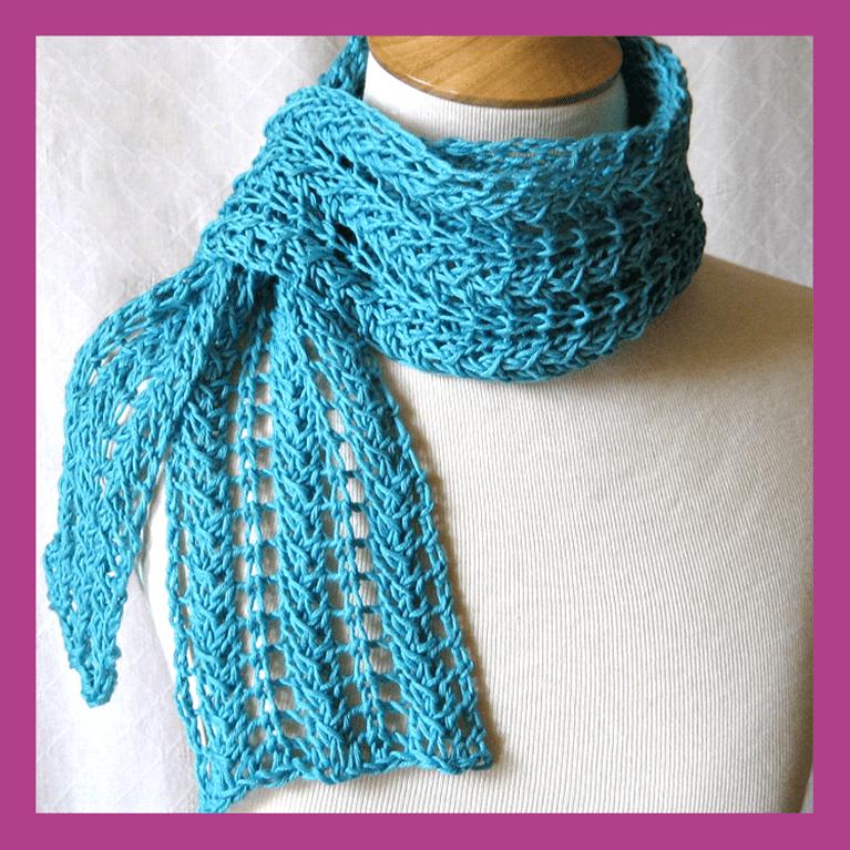 Zig Zag Knit Lace Scarf Pattern