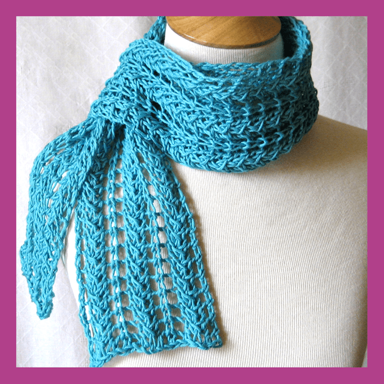 Zig Zag Knit Lace Scarf Tutorial Pattern