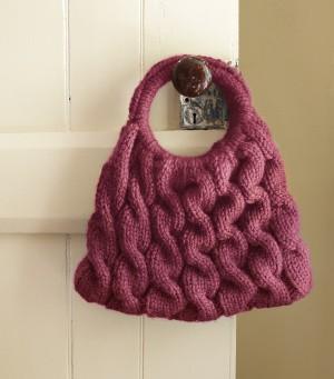 Cable Knitting Purse Pattern