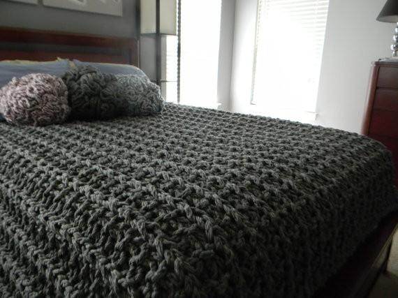 Chunky Knitting Blanket Pattern Instruction