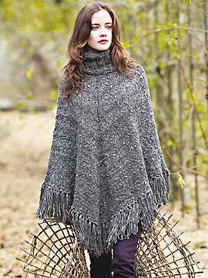 Chunky Poncho Knitting Pattern