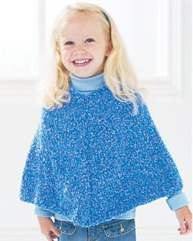 Easy Kids Poncho Knitting Pattern