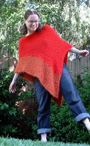 Free Poncho Knitted Pattern