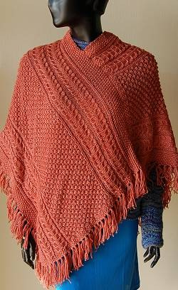 Irish Knit Poncho Pattern
