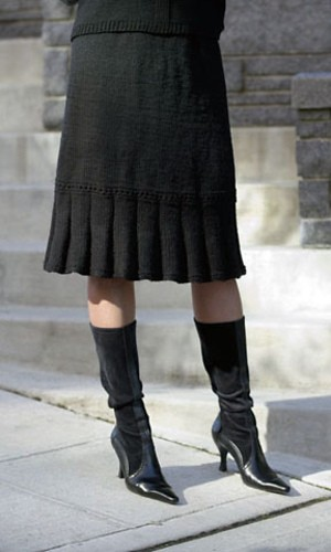 Knitted Tunic Skirt Pattern Instruction