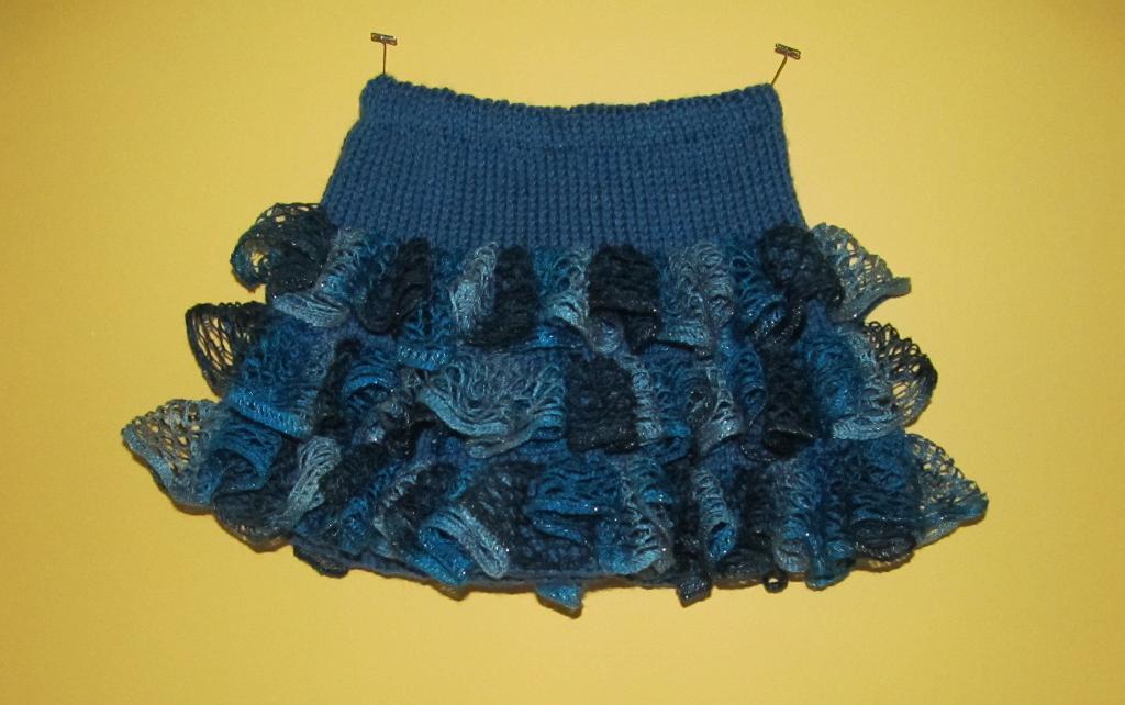 Party Ruffles Skirt Knitting Pattern