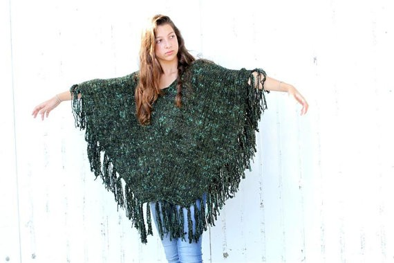 Poncho Kintted Pattern Tutorial