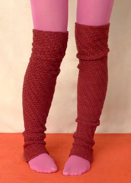 Spiral Rib Leg Warmers Knitting Pattern