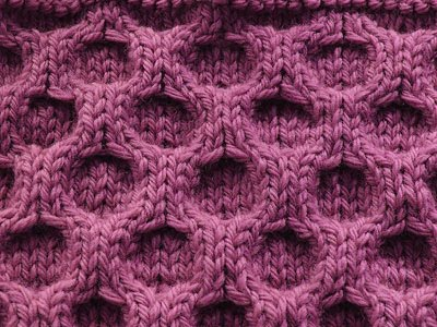 Aran Honeycomb Stitch Kniting Pattern