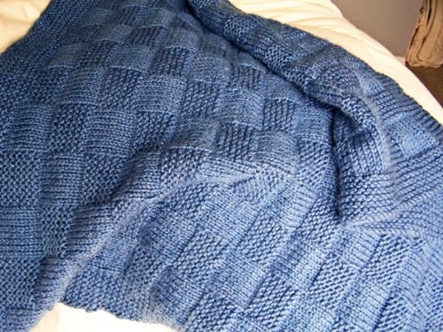 Baby Blanket Basket Weave Knitting Pattern