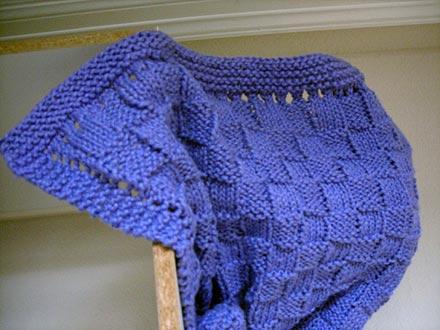 Basket Weave Baby Blanket Knitting Pattern