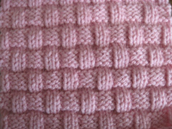Basket Weave Knitted Block Pattern