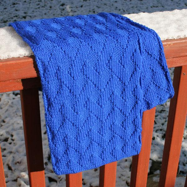 Basket Weave Scarf Knitting Pattern