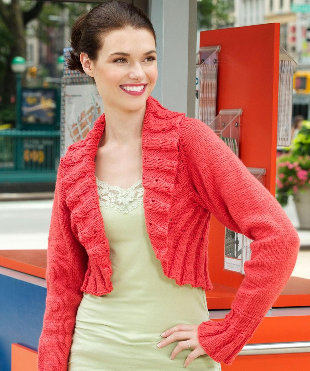 Comfy Shrug Knitting Pattern