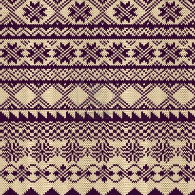 Fair Isle Knitting Design Idea