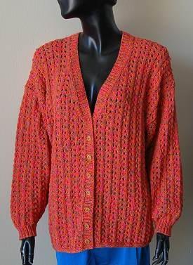 Free Easy Bamboozle Lace Cardigan Knitting Pattern