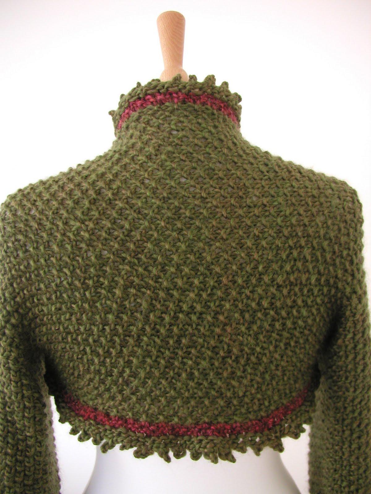 Holly Berry Shrug Knitting Pattern